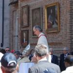 SOLENNE BENEDIZIONE AL TERMINE DELLA PROCESSIONE CON RELIQUIA DEL SANTO PATRONO - Anno2012
