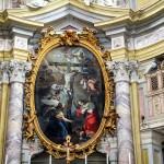 Pala Altare Maggiore : opera di Antonio Milocco da Busca , anno 1738 ; cornice , putti e stucchi di Cipriano Beltramelli .