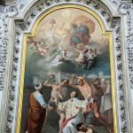 """"""" Martirio di Santo Stefano """" : pala  Altare laterale di sinistro , opera del pittore Giuseppe Bianco di Torino - anno 1834 ."""
